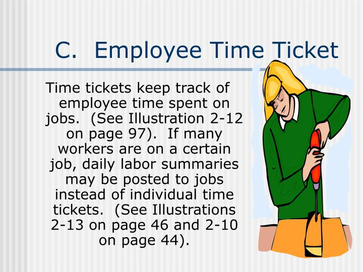 C.  Employee Time Ticket