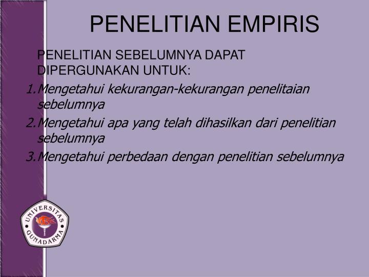 PENELITIAN EMPIRIS
