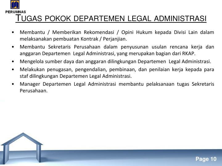 Tugas pokok departemen