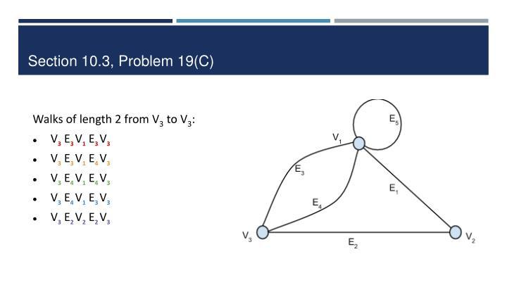 Section 10.3, Problem 19(C)