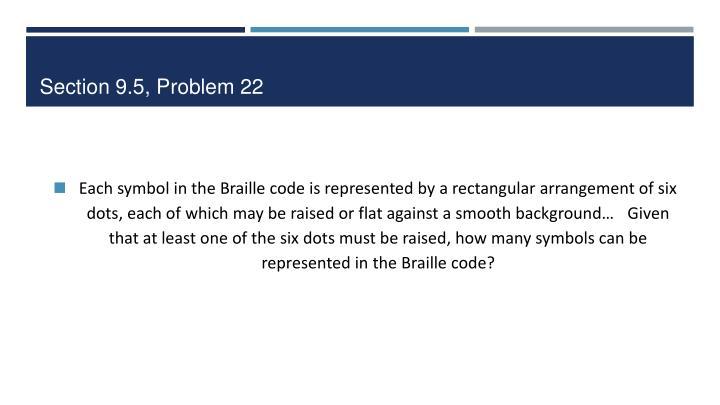 Section 9.5, Problem 22