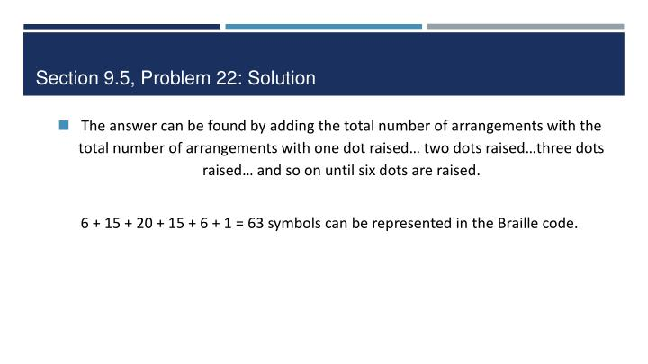 Section 9.5, Problem 22: Solution