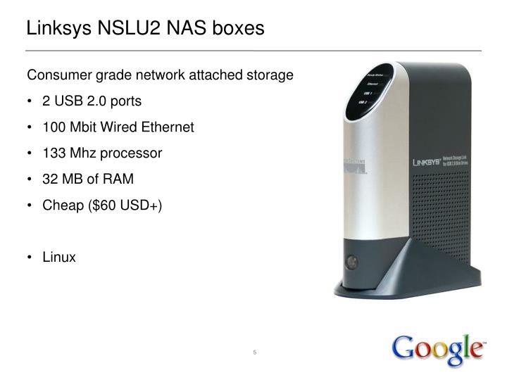 Linksys NSLU2 NAS boxes