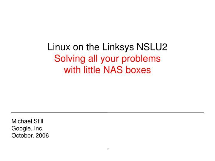 Linux on the Linksys NSLU2