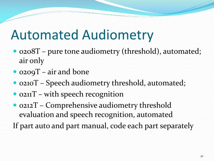 Automated Audiometry