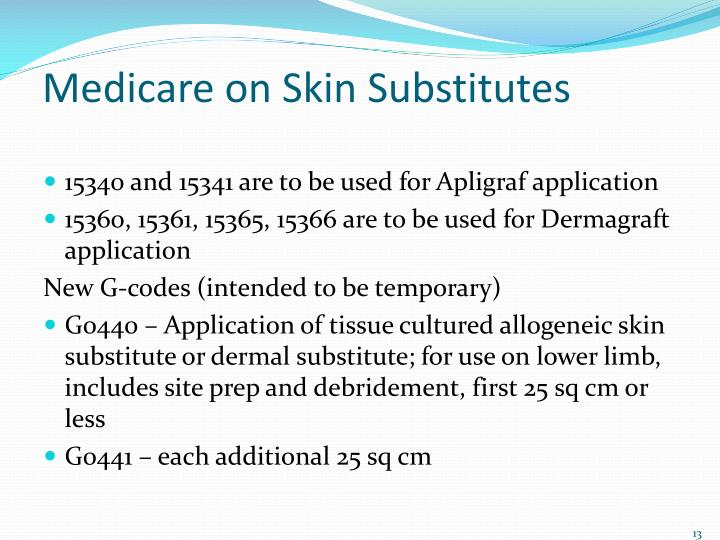 Medicare on Skin Substitutes