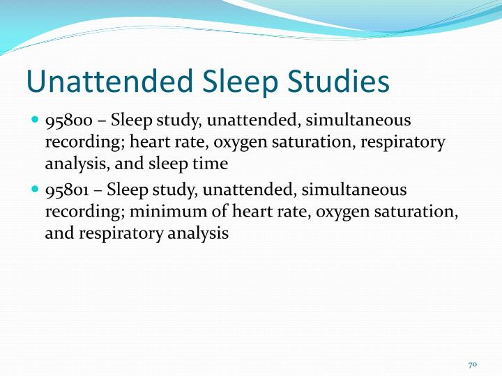 Unattended Sleep Studies
