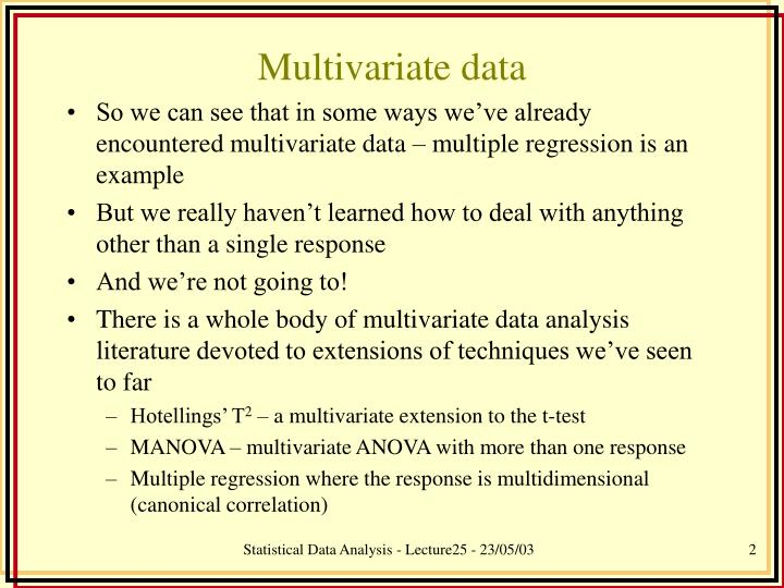 Multivariate data