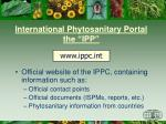 international phytosanitary portal the ipp