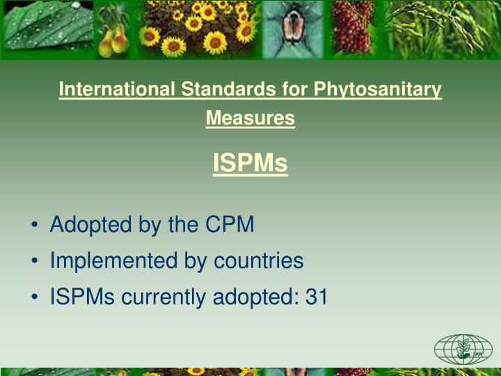 International Standards for Phytosanitary Measures