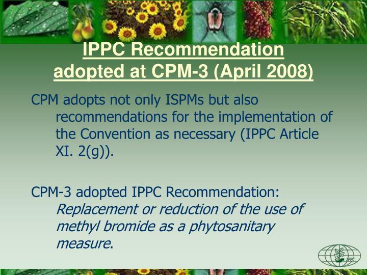 IPPC Recommendation