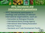 ippc secretariat and international organizations