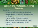 sanitary and phytosanitary sps measures