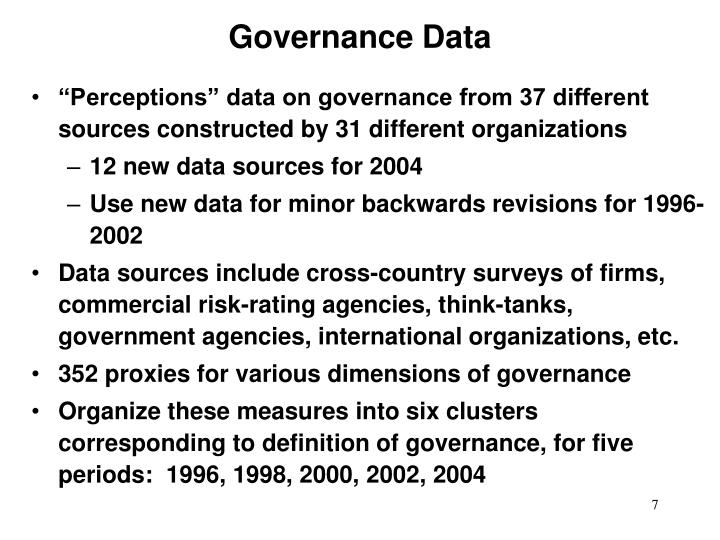 Governance Data