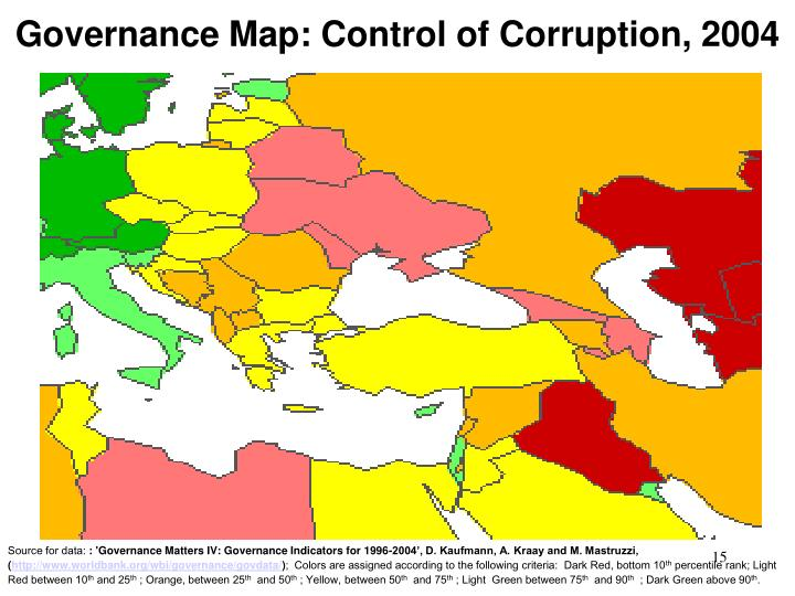 Governance Map: Control of Corruption, 2004