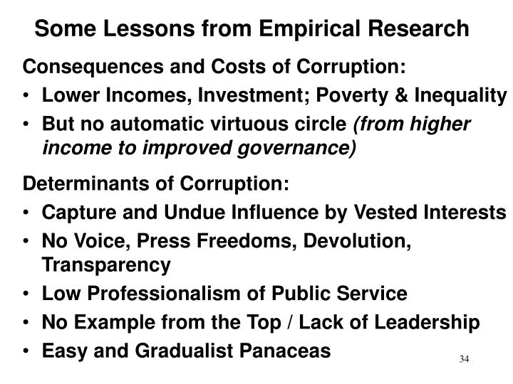 Some Lessons from Empirical Research