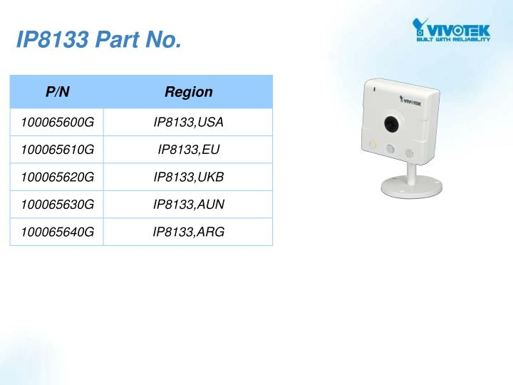 IP8133 Part No.