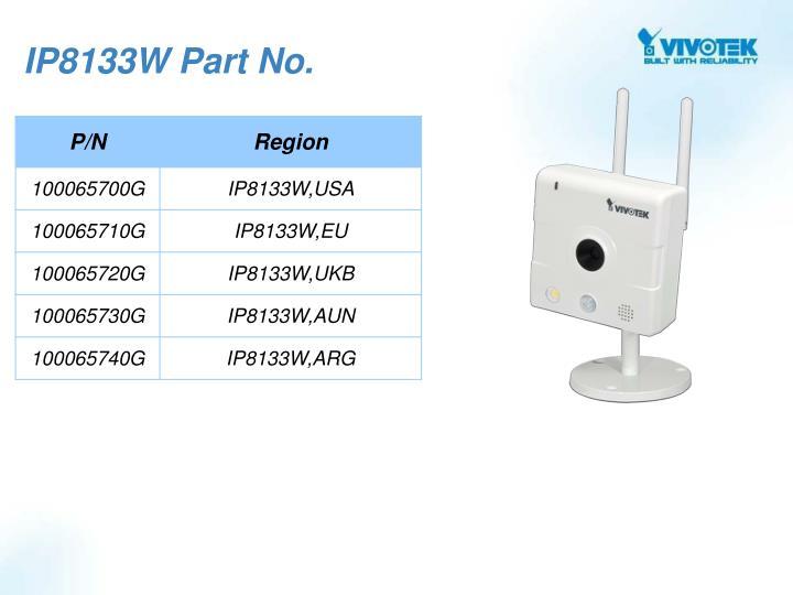 IP8133W Part No.