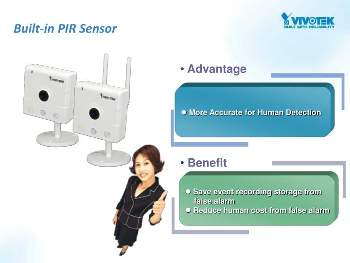 Built-in PIR Sensor