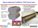 superconducting undulator nsls proto type