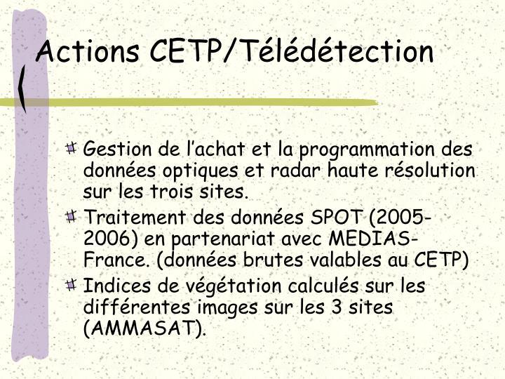 Actions CETP/Télédétection