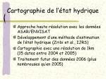 cartographie de l tat hydrique