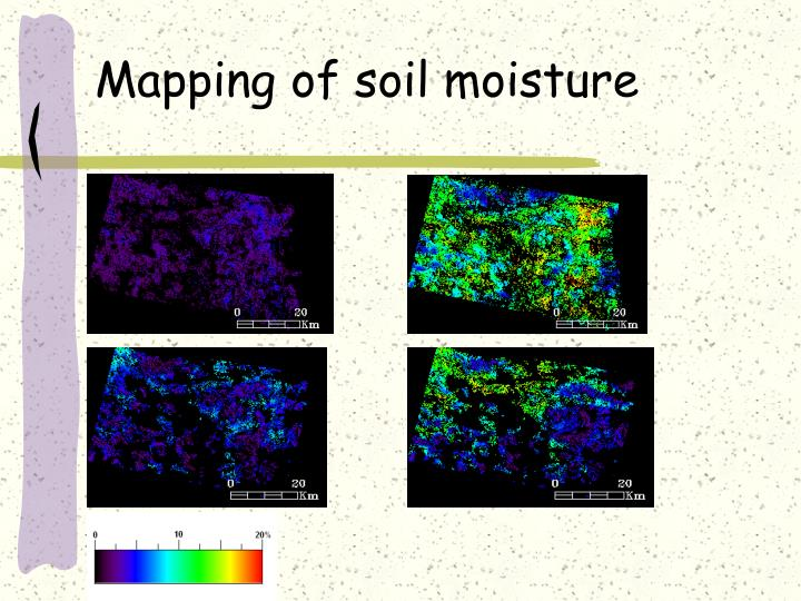 Mapping of soil moisture