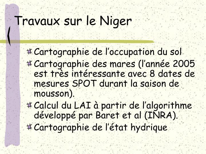 Travaux sur le Niger