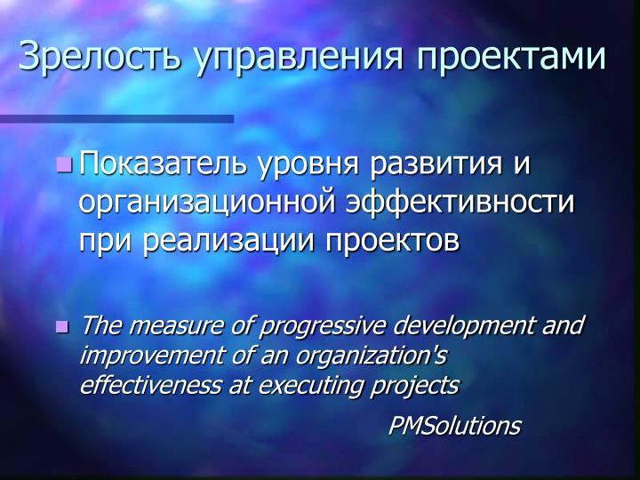 Зрелость управления проектами