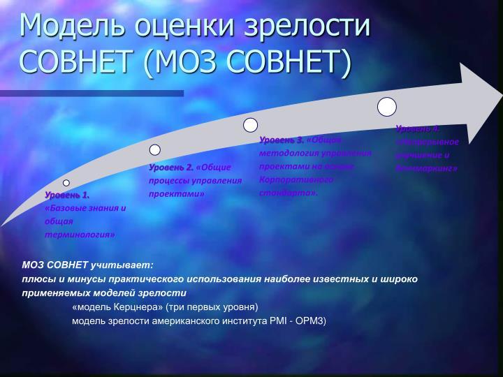 Модель оценки зрелости  СОВНЕТ (МОЗ СОВНЕТ)