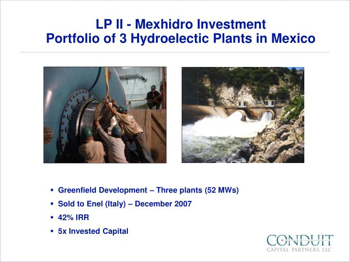 LP II - Mexhidro Investment