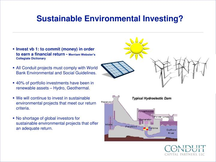 Sustainable Environmental Investing?