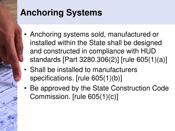 Anchoring Systems