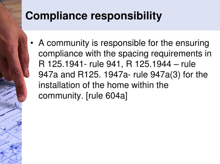 Compliance responsibility