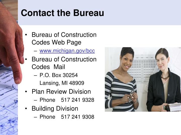Contact the Bureau