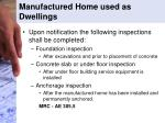 manufactured home used as dwellings1