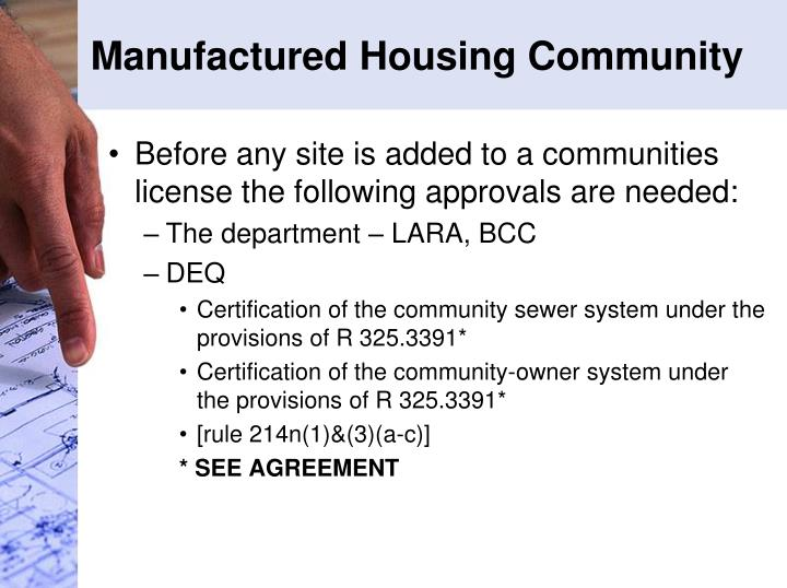 Manufactured Housing Community