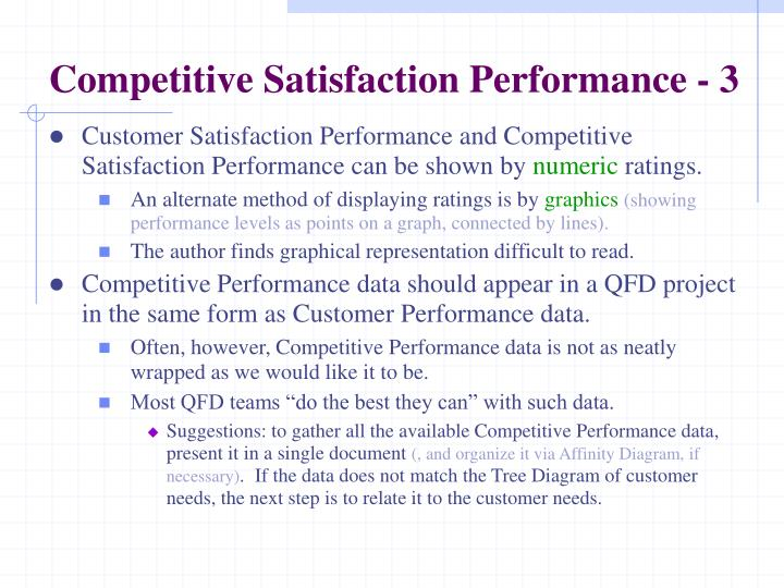 Competitive Satisfaction Performance - 3