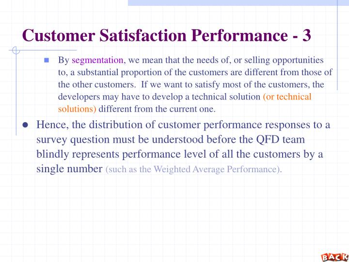 Customer Satisfaction Performance - 3