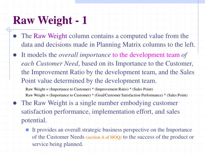 Raw Weight - 1