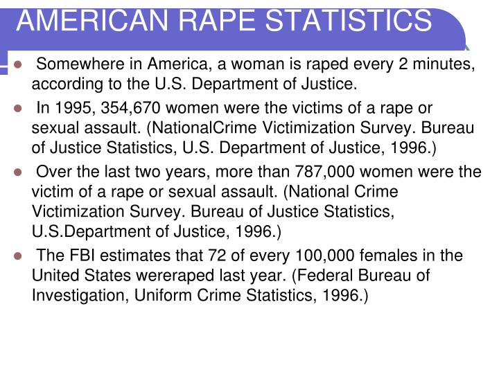 AMERICAN RAPE STATISTICS