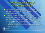 account administration and accountability