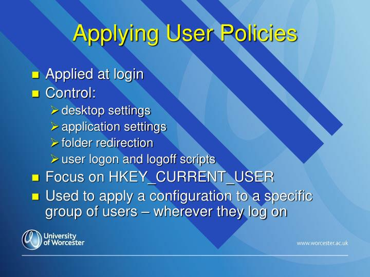 Applying User Policies