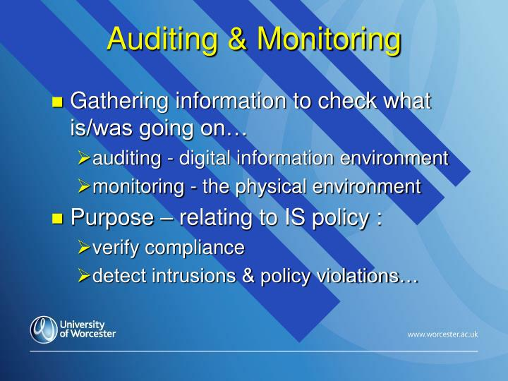 Auditing & Monitoring