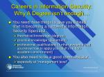 careers in information security why a degree isn t enough