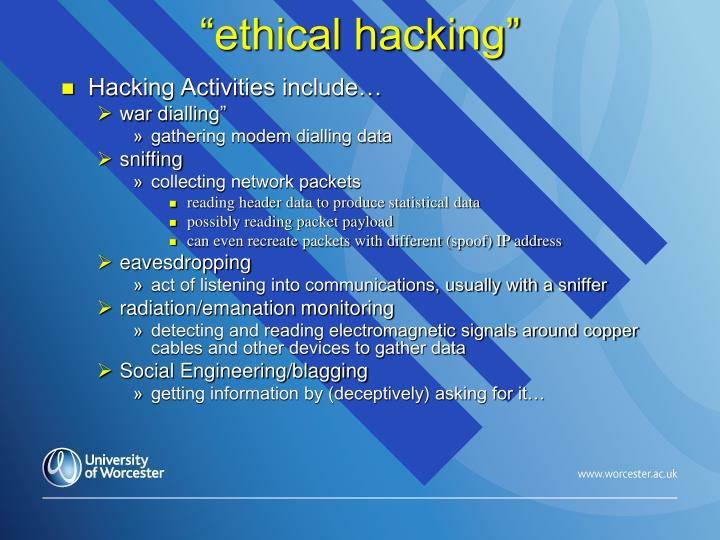 """ethical hacking"""