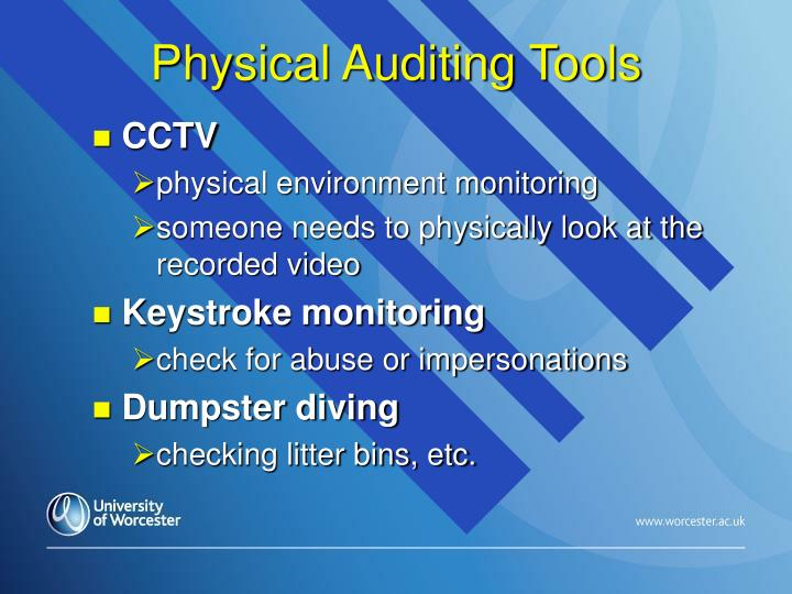 Physical Auditing Tools