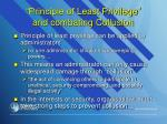 principle of least privilege and combating collusion