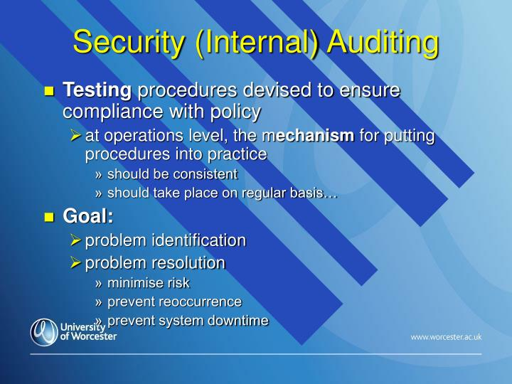 Security (Internal) Auditing