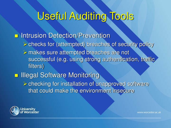 Useful Auditing Tools